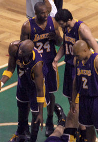 Bryant's Lakers lost to the Boston Celtics in six games during the 2008 NBA Finals.