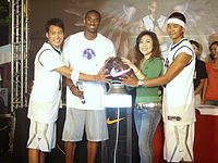Bryant at a Nike store launch ceremony in Taipei, 2007