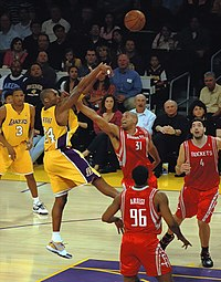 Bryant shoots a fadeaway over Shane Battier in 2009.