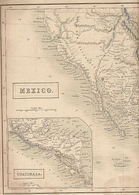 Map showing Utah in 1838 when it was part of Mexico, Britannica 7th edition