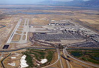 Salt Lake International Airport is the largest airport in Utah