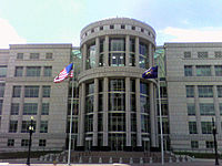 The Scott Matheson Courthouse is the seat of the Utah Supreme Court.