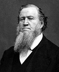 Brigham Young led the first Mormon pioneers to the Great Salt Lake.