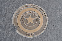 Dan George's B.C. Entertainment Hall of Fame star on Granville Street, Vancouver, BC