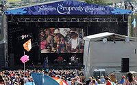 The stage at Fairport's Cropredy Convention in August 2009