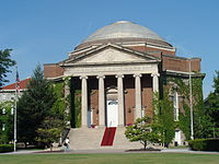 Hendrick's Chapel at Syracuse University, New York. The university maintains a relationship with the UMC.