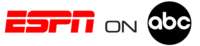 ESPN on ABC logo, used from its introduction in 2006 until 2012.