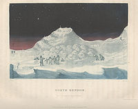 Depiction of an Inuit settlement on Boothia Peninsula in the 1830s, during John Ross' second expedition to find the Northwest Passage