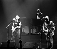 Knopfler with Dire Straits performing in Belgrade, 10 May 1985