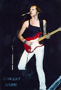 Knopfler with Dire Straits, 1979