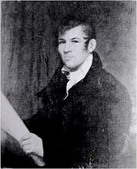 The only known image of John Randel Jr., the Commission's chief surveyor, by an unknown artist, probably Ezra Ames.