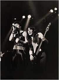 Paul Di'Anno and Steve Harris supporting Judas Priest on their British Steel Tour, 1980