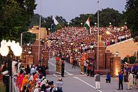 Wagah Border is situated between Amritsar and Lahore, became the main border crossing after partition of Punjab is known for its elaborate ceremony