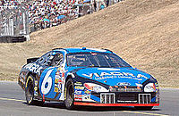 Mark Martin, driving the No. 6 car, came in second behind Stewart by 38 points.