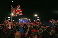 The Proms is an eight-week summer season of daily orchestral classical music concerts held across the United Kingdom. The Last Night of the Proms celebrates British tradition with patriotic classical music of the United Kingdom.