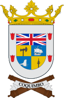 Coat of arms of Coquimbo, with the Union Flag.