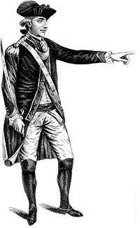 Major John André was British General Henry Clinton's spy chief; he was captured and hanged for his role in the plot.