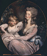 Peggy Shippen Arnold and daughter Sophia by Daniel Gardner, c. 1787