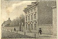 President's House (Philadelphia, Pennsylvania) where Arnold made his headquarters while he was military commander of Philadelphia; it served as the presidential mansion of George Washington and John Adams from 1790 to 1800.