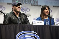 DC Entertainment president & CCO Geoff Johns and director Patty Jenkins at WonderCon 2017