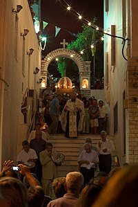 Procession in honor of the Assumption of Virgin Mary (15 August)