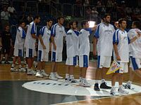 The Greek national basketball team in 2008. Twice European champions (1987 and 2005) and second in the world in 2006