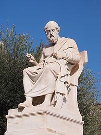 A statue of Plato in Athens.