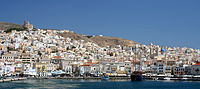 Hermoupolis, on the island of Syros, is the capital of the Cyclades.