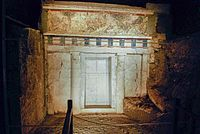 A view from the ancient royal Macedonian tombs in Vergina