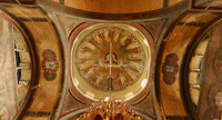 Dome of Hagia Sophia, Thessaloniki (8th century), one of the 15 UNESCO's Paleochristian and Byzantine monuments of the city