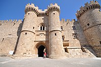 The Palace of the Grand Master of the Knights of Rhodes, originally built in the late 7th century as a Byzantine citadel and beginning from 1309 used by the Knights Hospitaller as an administrative centre