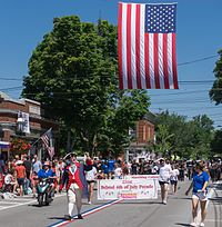 The front of the 231st Bristol Fourth of July Parade in 2016.
