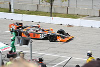 Carpenter competing in the 2009 Honda Indy Toronto at Exhibition Place.