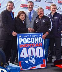 Carpenter (far right) was among the people that announced that Pocono Raceway would join the IndyCar Series in 2013.