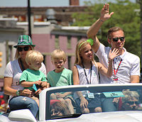 Carpenter with his family at the 2015 Indianapolis 500