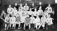 Spurs' first and second teams in 1885. Club president John Ripsher top row second right, team captain Jack Jull middle row fourth left, Bobby Buckle bottom row second left