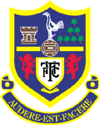 Between 1956 and 2006, the club crest featured a heraldic shield, displaying a number of local landmarks and associations