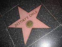 Destiny's Child's star on the Hollywood Walk of Fame.