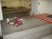 Tombs of Presidents John Adams and John Quincy Adams and their wives, in a family crypt beneath the United First Parish Church in Quincy Center.