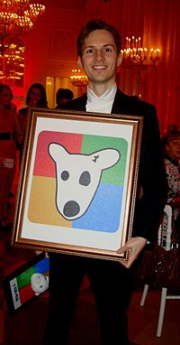 Pavel Durov, the founder of VKontakte, on his 26th birthday, 10 October 2010.