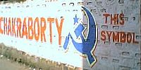 2004 general election mural for CPI(M) candidate Sujan Chakraborty in Jadavpur