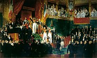 King Louis-Philippe I taking the oath to keep the Charter of 1830 on 9 August 1830