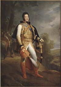 The Duke of Orleans in uniform as a Colonel-General of the Hussars in 1817