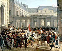 Louis-Philippe d'Orléans leaving the Palais-Royal to go to the city hall, 31 July 1830, two days after the July Revolution