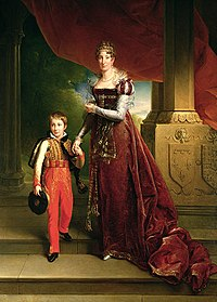 Maria Amalia, Duchess of Orléans with her son Ferdinand Philippe