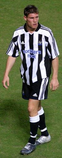 Milner playing for Newcastle United in 2004
