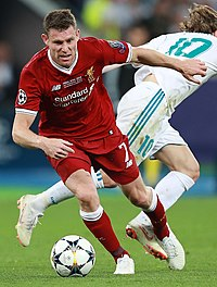 Milner playing for Liverpool in the 2018 UEFA Champions League Final