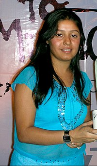 Chauhan after performing in a concert, 2006