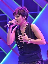 Chauhan performing at Channel V India Fest, 2014