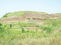 Defensive wall of the ancient city of Dholavira, Gujarat 2600 BCE